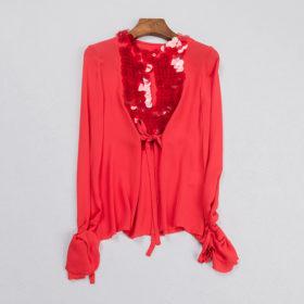 Festlig silkeskjorte – rød