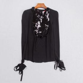 Festlig silkeskjorte – sort