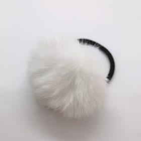 Filona pompom hårelastik i hvid
