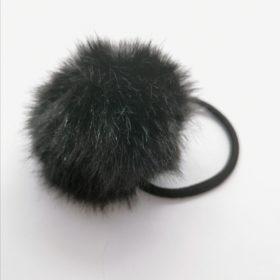 Filona pompom hårelastik i sort