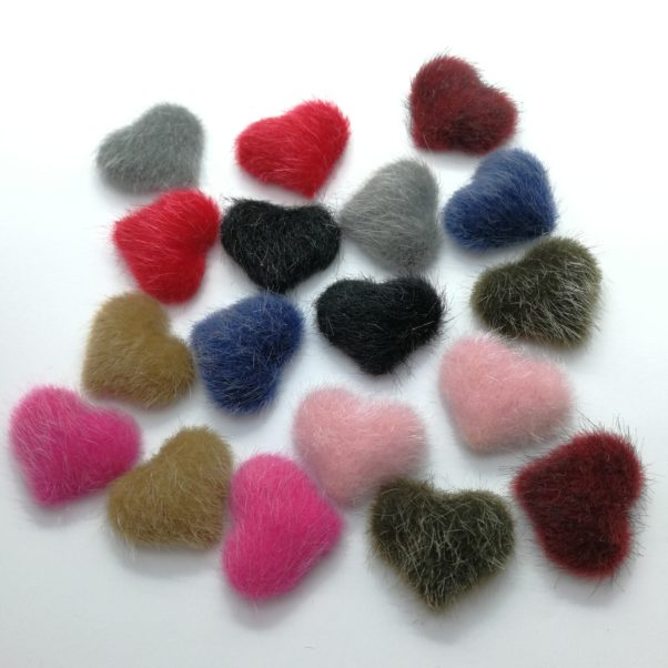 Hjerte pelsknap uden huller