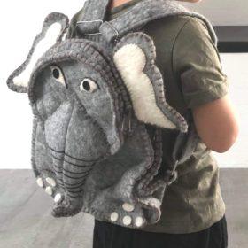 Håndfiltet rygsæk – model elefant