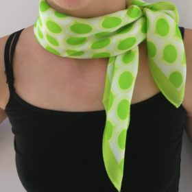 Silketørklæde – Polka twist grøn