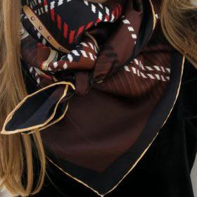 Silketørklæde – Brunt bælte