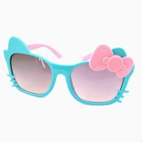 Børne solbriller   Model glad kat – blå
