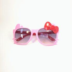 Børne solbriller   Model glad kat – lyserød
