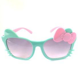Børne solbriller   Model glad kat – mintgrøn