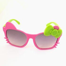 Børne solbriller   Model glad kat – pink og mintgrøn