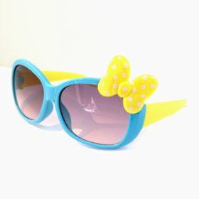 Børne solbriller   Model mini sløjfe – blå