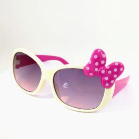 Børne solbriller   Model mini sløjfe – hvid
