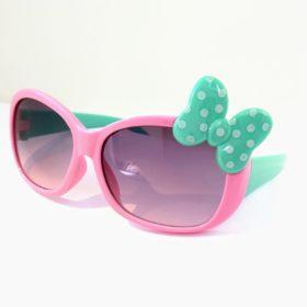 Børne solbriller   Model mini sløjfe – lyserød