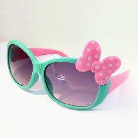 Pige solbriller Model Mini sløjfe – mintgrøn