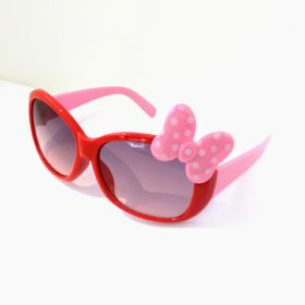 Børne solbriller   Model mini sløjfe – rød