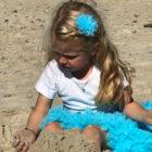 Strutskørt Turkisblå