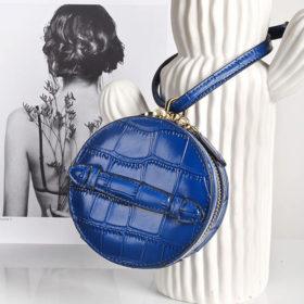 Lækker blå lædertaske