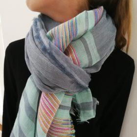 Elegant vævet tørklæde – mint