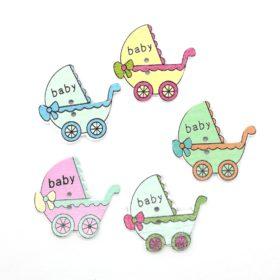 Sød barnevogn – træknap