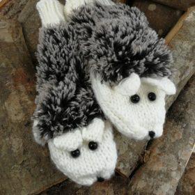 Søde pindsvine vanter – hvide