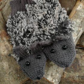 Søde pindsvine vanter – koksgrå