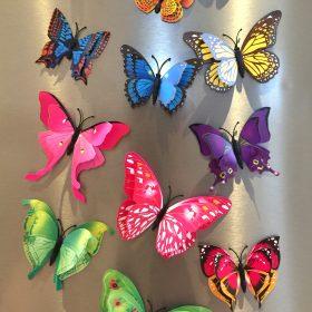 3D sommerfugle