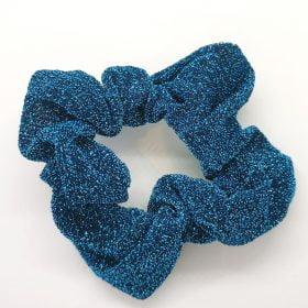 Glimmer scrunchie i neonblå