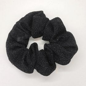 Glimmer scrunchie i sort
