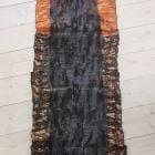 Flot håndfiltet uld/silke tørklæde