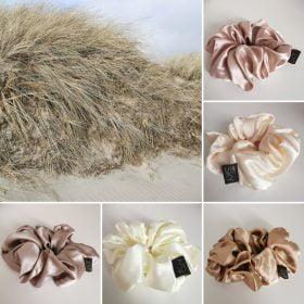 Oversize silke scrunchies