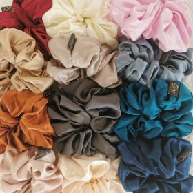 Sampak – 3 oversize silke scrunchies