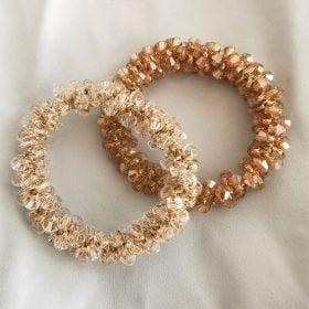 Hårelastik med smukke små perler